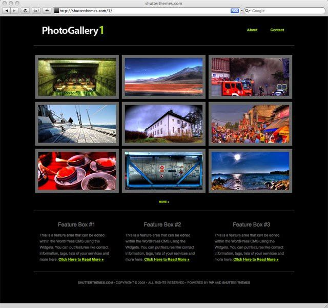iThemes Photo Gallery Web Template