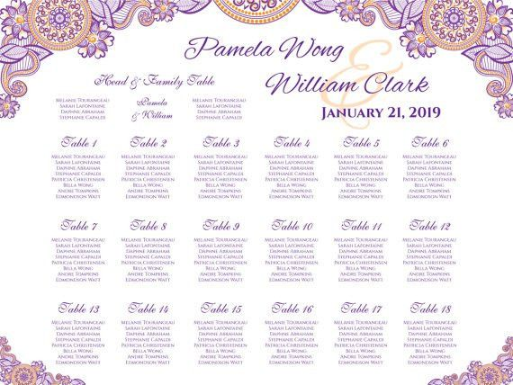 DIY Printable Wedding Seating Chart #2371956 - Weddbook