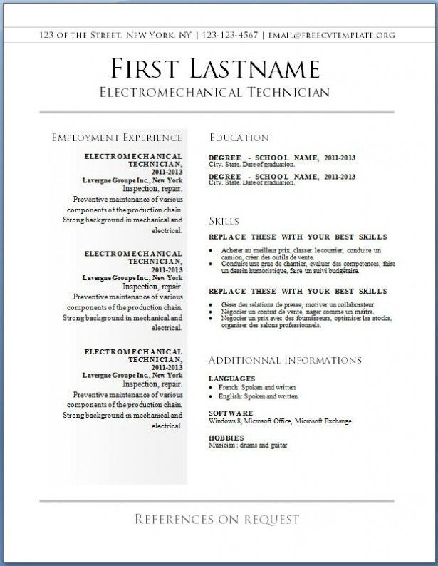 Free Resume Templates To Print. Free Printable Resume Templates ...
