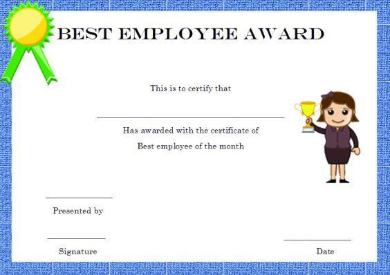 Elegant and Funny Employee of the Month Certificate Templates ...