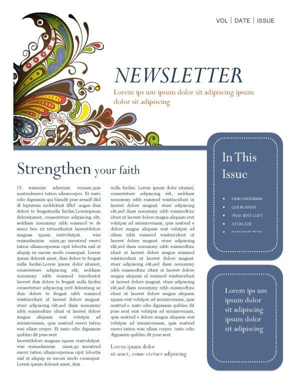 Fall Missionary Update Newsletter Template | Newsletter Templates