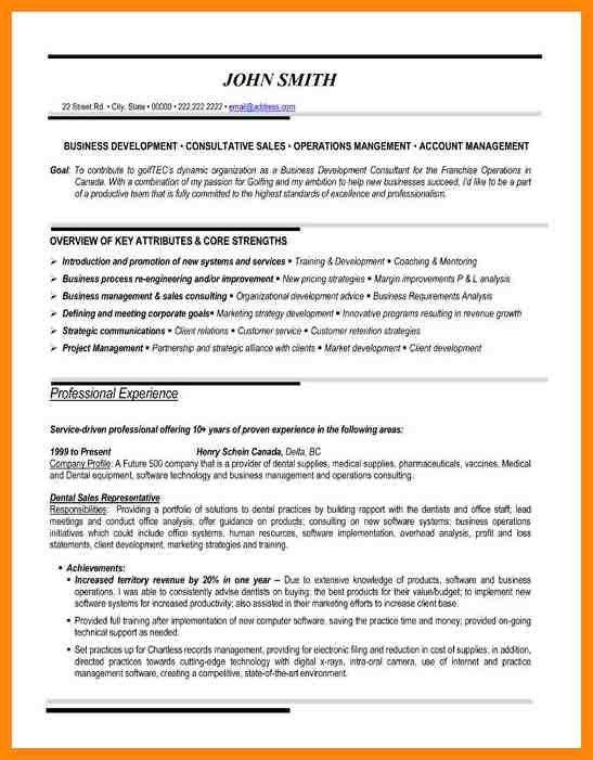 5 sales representative resume sample. resume outside sales ...