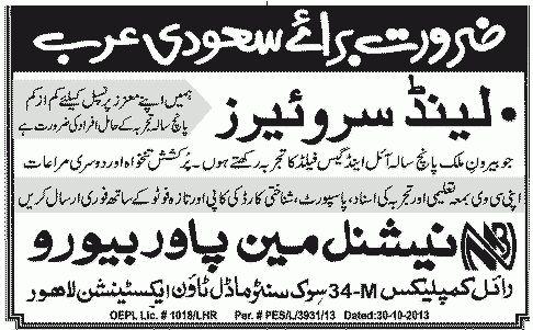 Saudia Arabia Land Surveyor Jobs - Others Companies Jobs in Jeddah ...