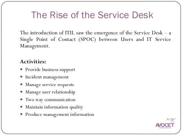 The Evolving Role of the Service Desk Analyst, Keith Wilkins, Avocet