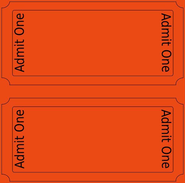 Movie Ticket Template.admit One Invitations Blank.jpg ...