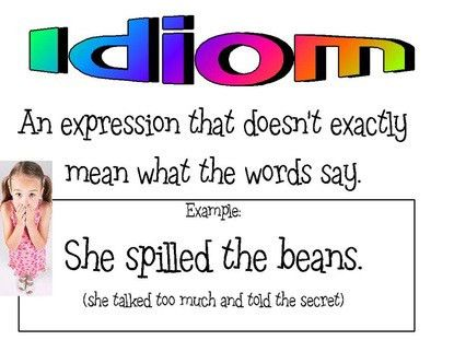 April 22nd Idiom & Onomatopoeia - Mrs. Servi's Class Webpage