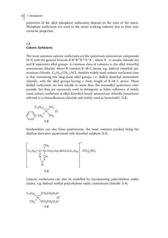 Applied surfactants