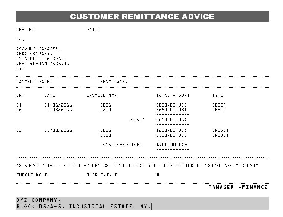 Nice Remittance Advice Template Free Regarding Free Remittance Advice Template