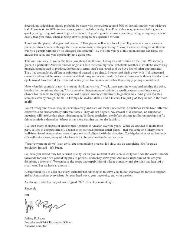 Amazon Jeff Bezos 2016 letter to shareholders