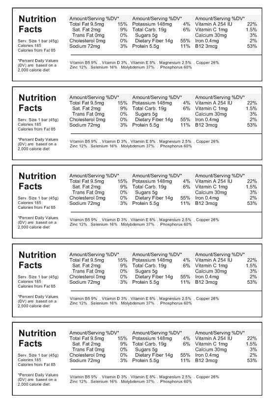 Nutrition Label Template Download | Create Nutritional Labels