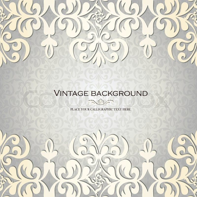 Vintage Background, Antique Greeting Card, Invitation With Lace ...