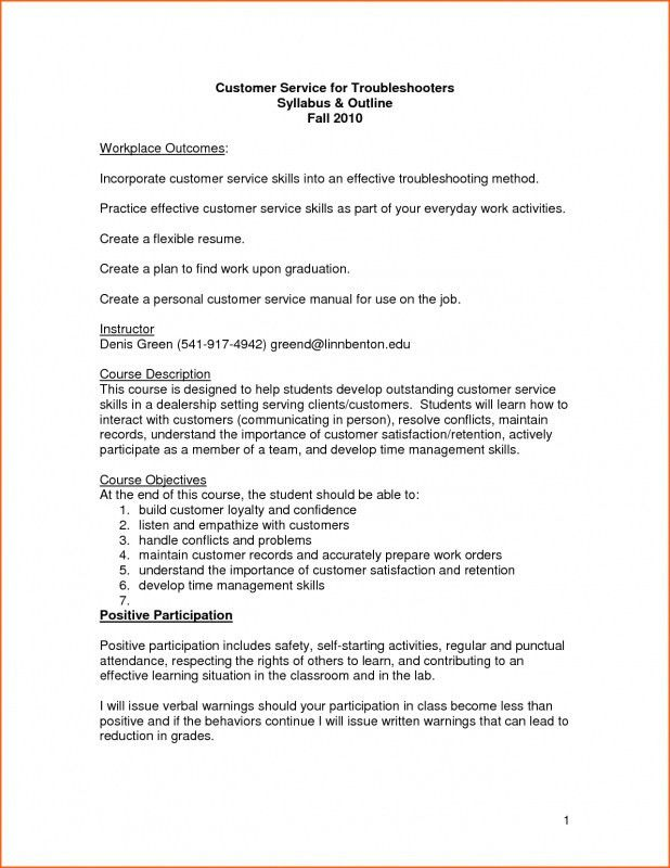 Resume Skills Examples For Customer Service | Samples Of Resumes