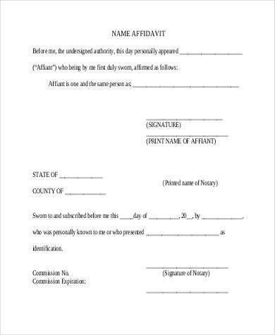 7+ Blank Affidavit Form Samples - Free Sample, Example Format Download