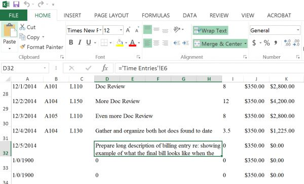 A Pictorial Walkthrough On How To Use Excel For Law Firm Billing ...