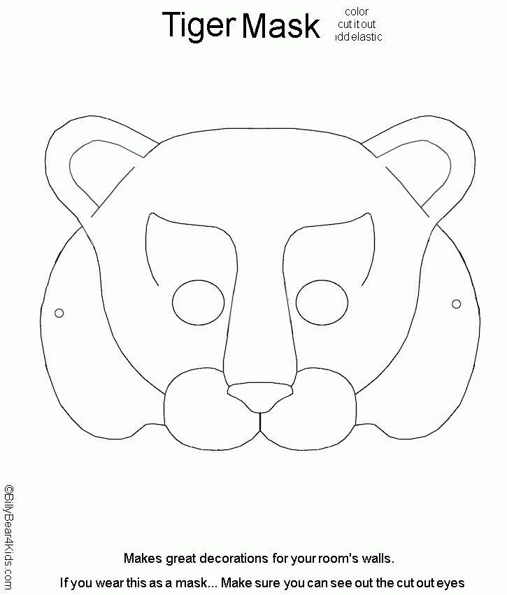 MaskTiger.gif 725×850 pixels | Felt | Pinterest | Mask template ...