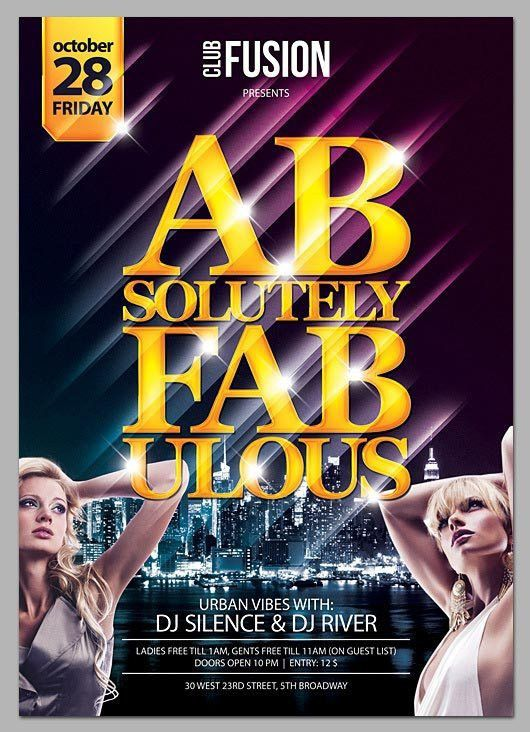Free Club Fusion PSD Flyer Template - Grab Free PSD Flyer Template