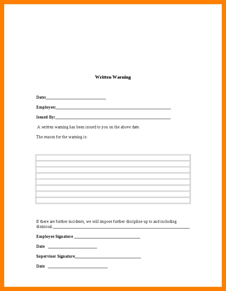 6+ format for warning letter | beverage-carts
