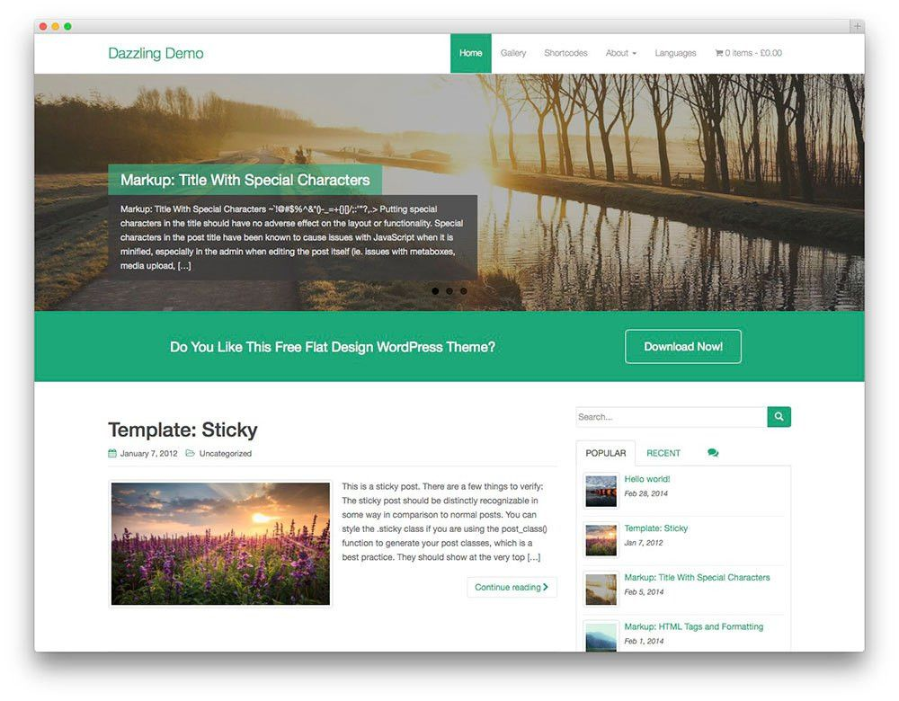 25 Best Free WordPress Themes Built With Bootstrap 2017 - Colorlib