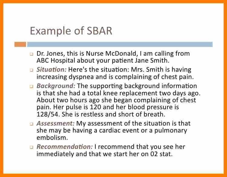 6+ nurse to nurse sbar example   sephora resume