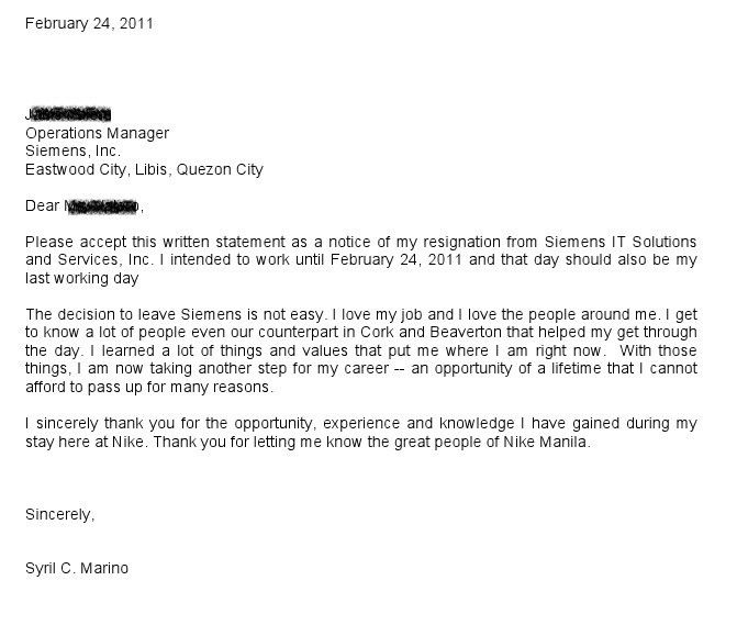 Resignation Letter : Voluntary Resignation Letter Sorrick ...