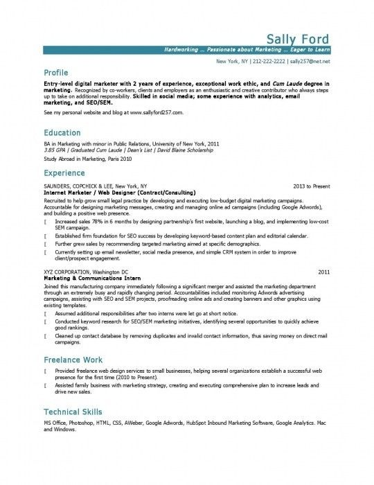 Marketing Resume Examples. digital marketing resume samples sample ...