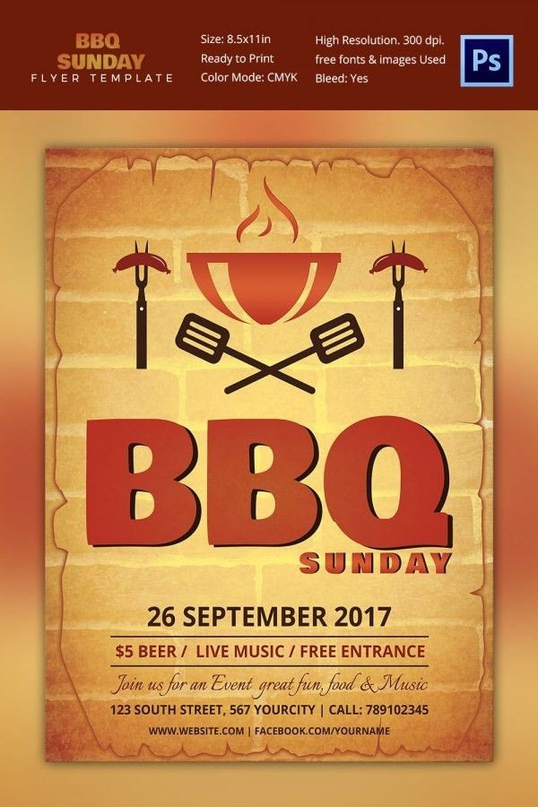 Free Bbq Flyer Template | Template Idea