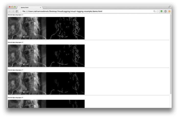 visual-logging, my new favorite tool for debugging OpenCV and ...