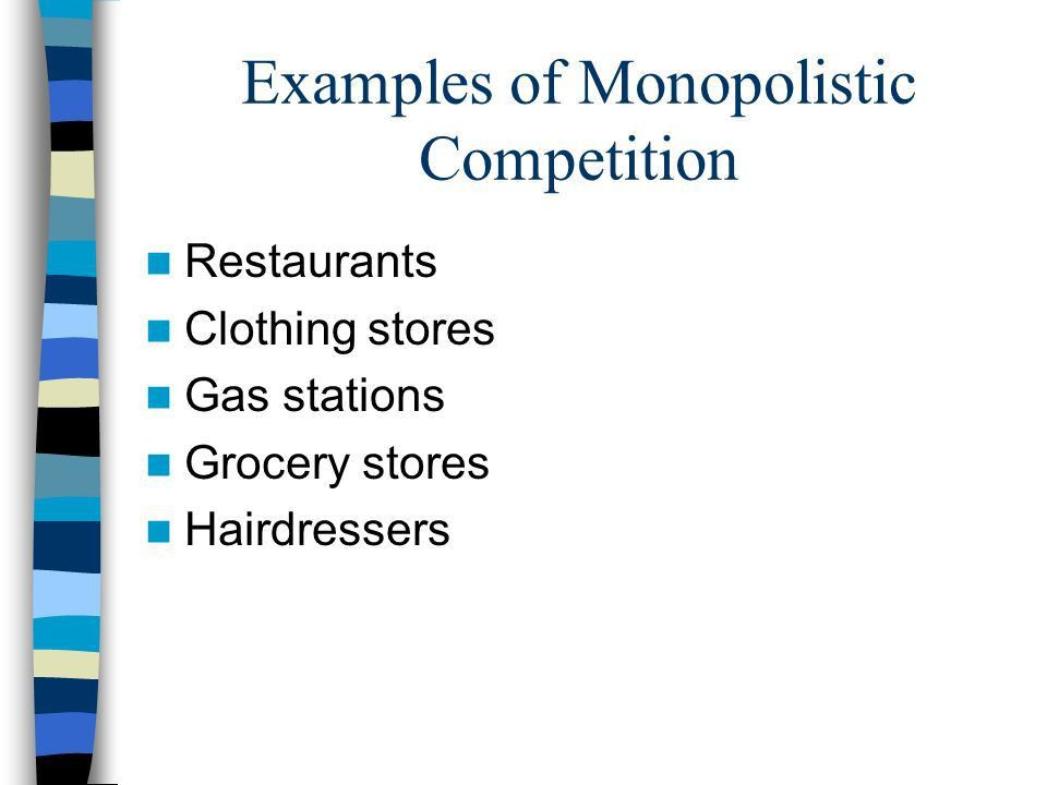 Market Structures The nature and degree of competition between ...