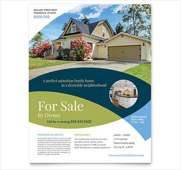 free real estate brochure templates