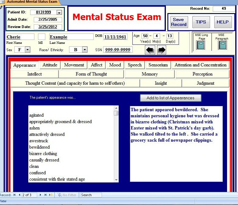 FullContinuum.com / Automated Mental Status Exam