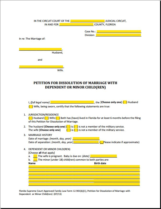 Choosing Florida Divorce Forms to File - An Easy Guide