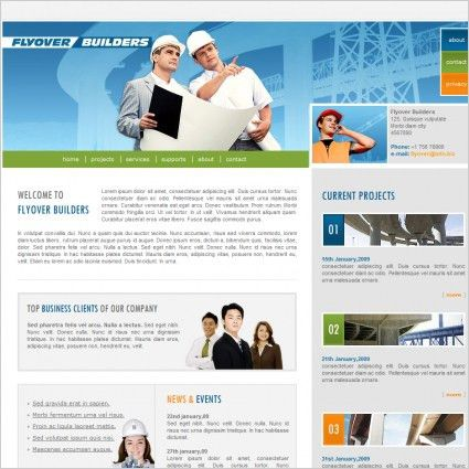 Flyover Builders Template Free website templates in css, html, js ...