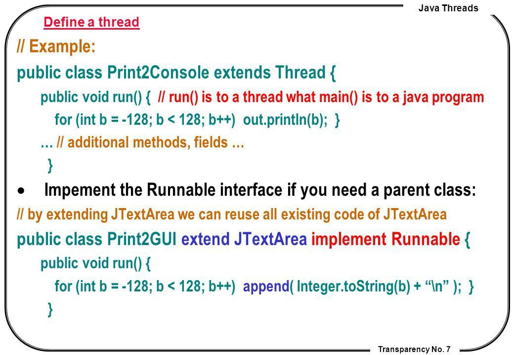 Lecture 7. Java Threads Cheng-Chia Chen. - ppt video online download