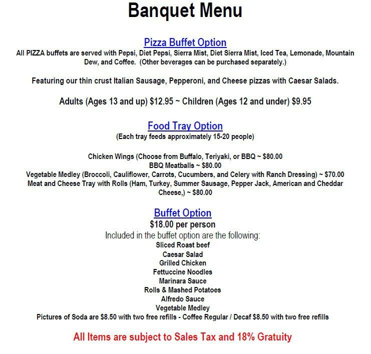 Banquet Room | Sunset Bar and Grill