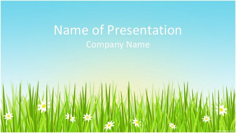Spring Field PowerPoint Template - whiteboard.freeforums.org