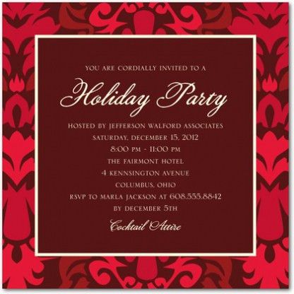Corporate Holiday Party Invitations For Your Inspiration ...