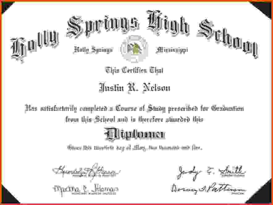 High School Diploma Template.printable High School Diploma ...