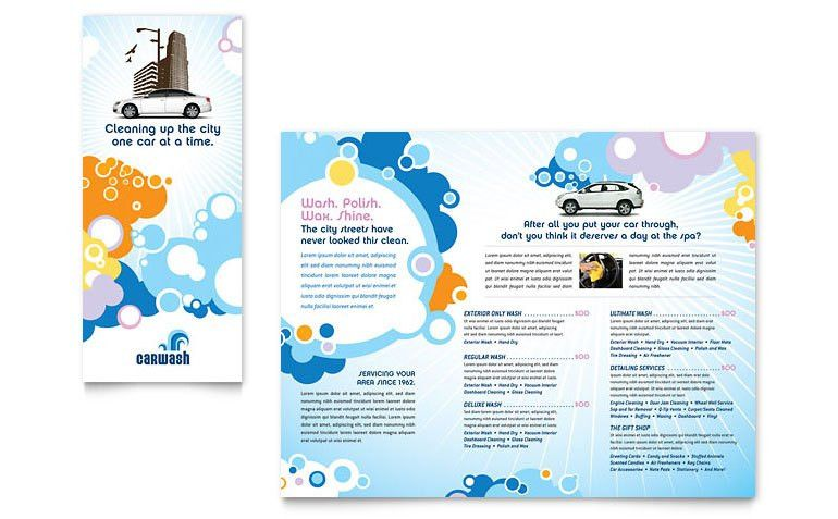 Car Wash Tri Fold Brochure Template - Word & Publisher