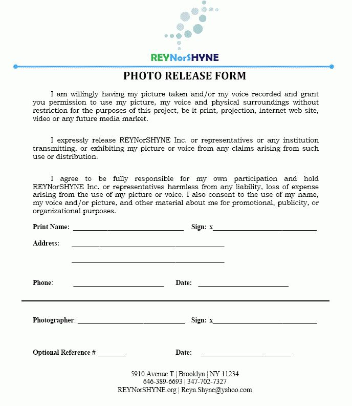 7+ photography release form pdf | attendance sheet