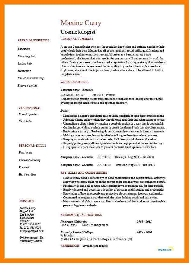 8+ cosmetology resume examples | authorize letter