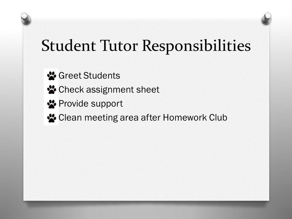 Wildcat Homework Club Student Tutor Training. Greeting Students O ...