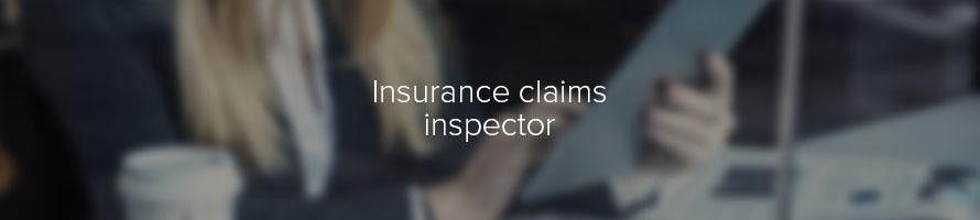 Insurance claims inspector: job description | TARGETjobs