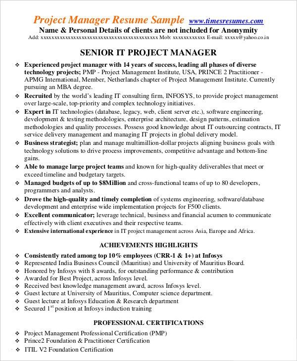pretty best project manager cv images gallery unforgettable