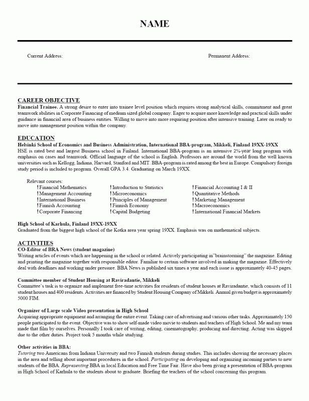 Awesome Career Objective For Marketing Resume | Resume Format ...