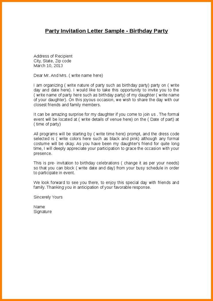 Graduation Invitation Letter Sample - Kawaiitheo.Com