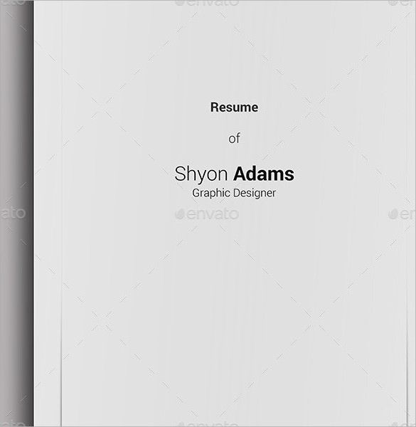14+ Resume Cover Pages - PSD, Vector EPS, PDF