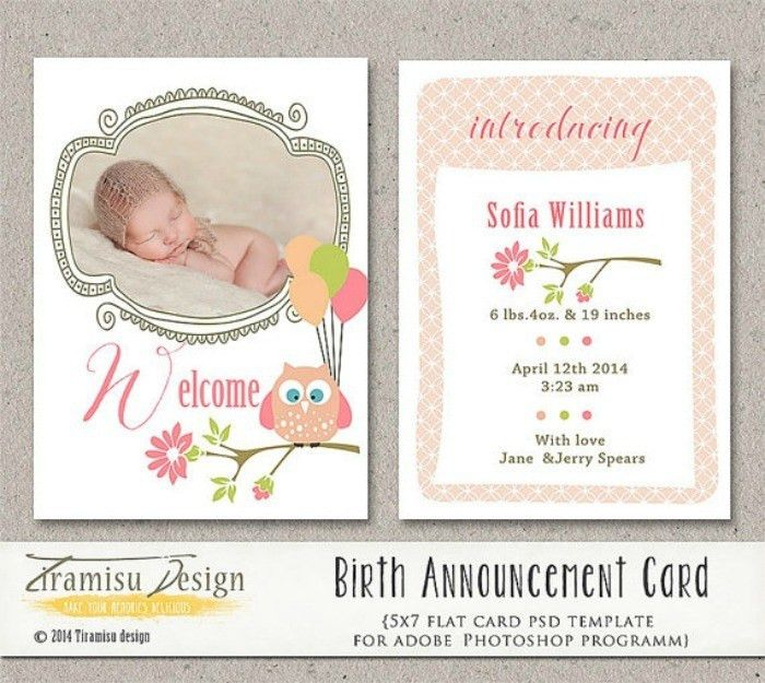 5 Places To Find Downloadable Birth Announcement Templates - Our ...