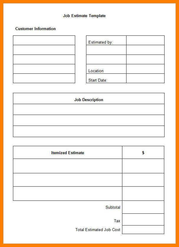5+ free estimate template pdf | lease template