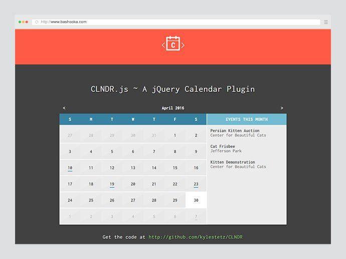 10 Best jQuery Event Calendar Plugins 2016 | Web & Graphic Design ...