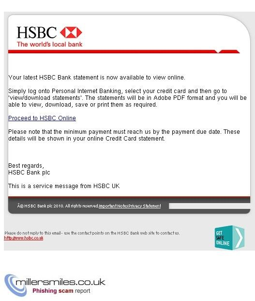 Your latest HSBC Bank statement is now available to view online ...